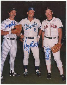 Don Mattingly, Geoge Brett & Wade Boggs.