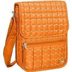 LUG MOPED ORANGE CROSSBODY NYLON TRAVEL MESSENGER  HANDBAG CARRY ON ORGANIZER