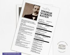 Ancestor Trading Card template family history gifts for mom Microsoft Office, Microsoft Word 2007, Microsoft Powerpoint, Genealogy Forms, Genealogy Research, Amazing Tools, Trading Card Template, Make It Easy, Bookmark Template