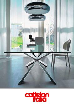 Beau This Modern Glass Top Dining Table Is Made In Italy By Cattelan Italia. The  Spyder Table Is Avaiable In Several Shapes, Sizes And Finishes