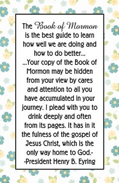 Why do we need the Book of Mormon 2 sm