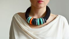 2014 color trend: cool mint and hot orange by IKKX on Etsy, €42.00