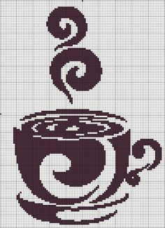 Coffee cup cross stitch chart