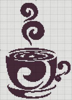 Coffee cup cross stitch chart