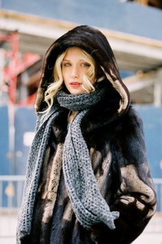 winter fur coat, New York fashion week AW 2012