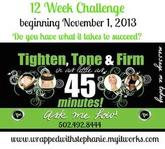 12 Week Challenge; Do you have what it takes to commit?