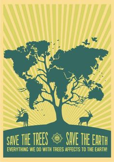 Earth Day Poster Ideas - 25.  Could this one be a pattern?