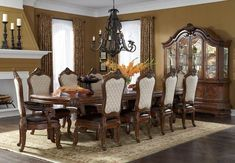 AICO Furniture - Tuscano Melange 11 Piece Dining Table Set - 34002-34-11SET