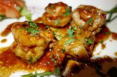 Gamberoni: gebakken grote garnalen met knoflook.
