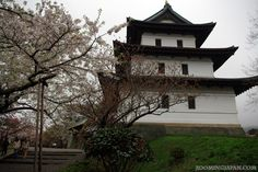 Matsumae Castle in Hokkaido - the only Japanese style castle there.