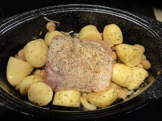 Rôti de porc aux pommes de terre