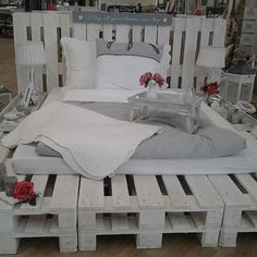 """Gotta polish the edges on my """"platform"""" pallet bed and develop it into this!"""