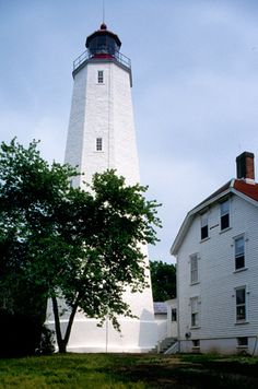 The Sandy Hook Lighthouse in New Jersey is the oldest original lighthouse in the United States (built after the Boston light was destroyed and before its replacement). It was built in 1764 to aid mariners coming through the southern end of New York Harbor, survived the Revolutionary War under British control, and is still flashing its light today.