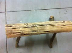 Picture of Natural wood log bench