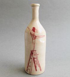 Ladder Ceramic Bottle