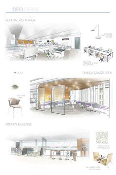 IDEO Office Interiors by Amy Hagedorn, via Behance
