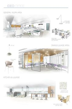 IDEO Office Interiors by Amy Hagedorn, via Behance