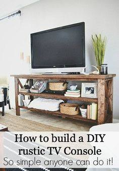 How to build a DIY rustic TV console - so easy!!