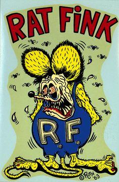"""ratfinksofamerica: """" rat fink color on Flickr. Rat Fink, 1963 Ed """"Big Daddy"""" Roth water slide decal. """""""