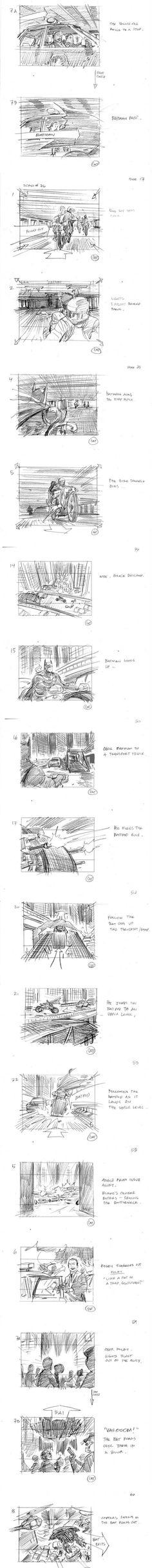 'The Dark Knight Rises'  Storyboard Artist: Gabriel Hardman