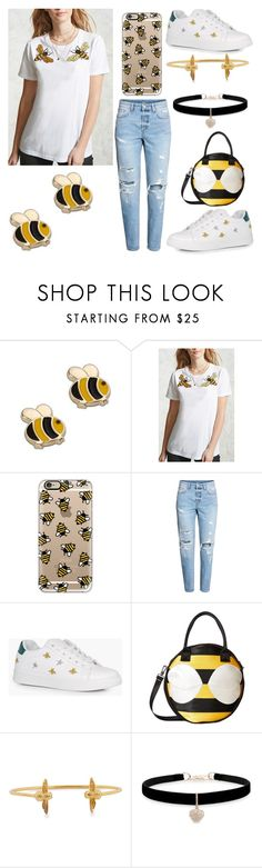 """""""Bee Yourself! 🐝"""" by sisibff ❤ liked on Polyvore featuring Casetify, Boohoo, Harveys, Olivia Burton and Betsey Johnson"""