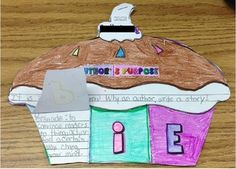 Authors Purpose- Cutie P.I.E. Foldable Book