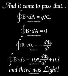 Las cuatro ecuaciones de Maxwell que explican todo el electromagnetismo,...