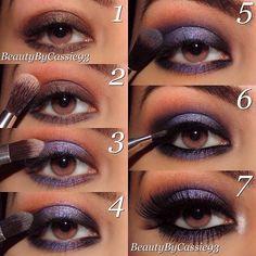 Makeup look for BROWN EYES~Purple Eyeshadow~Pictorial
