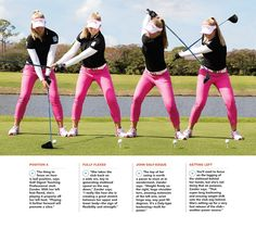 Golf Ladies Tips Swing Sequence: Brooke Henderson - Golf Digest - An athletic swing rooted in—of all places—a hockey rink. View Brooke's swing frame-by-frame Golf 6, Play Golf, Disc Golf, Sport Golf, Golf Putting Tips, Golf Instruction, Golf Tips For Beginners, Perfect Golf, Golf Lessons