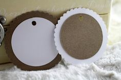 Layered Scalloped & Circle Gift Tags  by SillyLoveSongCustoms