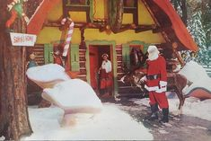 Santa's Village, Painting, Art, Art Background, Painting Art, Kunst, Paintings, Performing Arts, Painted Canvas