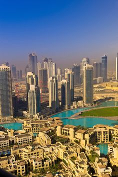 View from the Address Hotel of the area surrounding the Burj Khalifa (the tallest building in the world in downtown Dubai) in Dubai_United Arab Emirates
