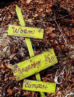 How to Compost | HGTV Gardens (I really just like the worm sign)