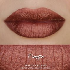 Makeup and Beauty: Campfire Liquid Lipstick Matte Metallic Liquid Lip. Orange Lipstick, Metallic Lipstick, Lipstick Shades, Matte Lipstick, Lipstick Colors, Liquid Lipstick, Lip Colors, Makeup Lipstick, Lipsticks