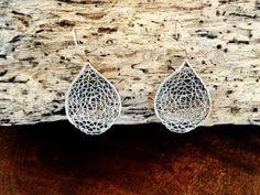 Sterling Silver Leaf Filigree Earrings by Lucyyangjewelry on Etsy, $38.00