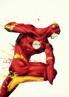 The Flash - Artist Florent Belmonte's portraits of characters in the Marvel, DC, and Star Wars Comic Book Characters, Comic Character, Comic Books Art, Comic Art, Book Art, Marvel Comics, Dc Comics Art, Wally West, Superman