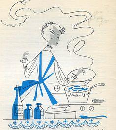 Vintage Cookbook Art.