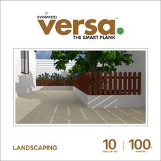 Versa Plank provide #WPC #Landscaping for your garden which doesn't need #painting,and #coating visit: http://versaplank.in/