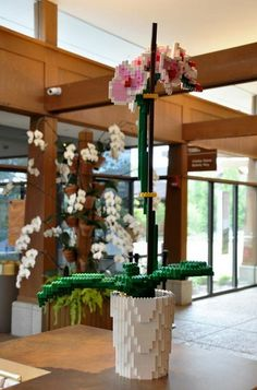 A Garden Gets 'Pixelated' With LEGO Sculptures - DesignTAXI.com