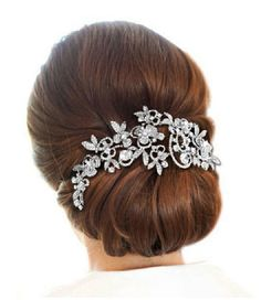 Rhinestone Bridal Head Piece Wedding Hair by SpecialTouchBridal