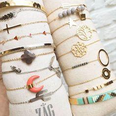 Zag Bijoux! We hebben zóóóveel nieuwe armbandjes online staan. Heb jij ze al ontdekt? 💓  Shop via de link in bio 🤗  #luxedy #zagbijoux