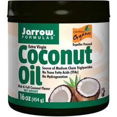 Jarrow Formulas, Органическое, кокосовое масло первого отжима, 16 унций (454 г)