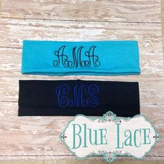 Monogrammed Headbands by BlueLaceMonograms on Etsy, $6.00
