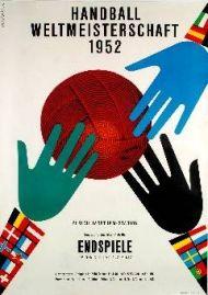 International Handball competition by Wemer Weiskönig 1952