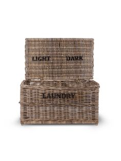 Garden Trading Dark And Lights Laundry Chest, Rattan now available to purchase online or click collect in stor Laundry Bin, Laundry Room, Laundry Basket, Laundry Sorter, Hamper Basket, Cox And Cox, Colorful Socks, Rustic Charm