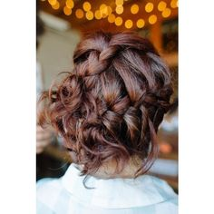 Braid low bun Hairstyles and Beauty Tips ❤ liked on Polyvore featuring beauty products, haircare, hair styling tools and hair