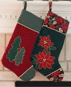 Fireside Favorite Stockings | Use an old table runner to make stockings!