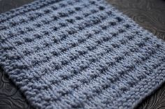 Knitted Dishcloth  Different than the one I normally do.  But so going to do this.  Makes up really cute.