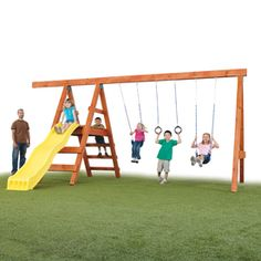 Swing-n-slide Pioneer Kit Residential Wood Playset With Swings Ne 4433
