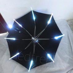 Paraply med LED-lys fra ledtrend no